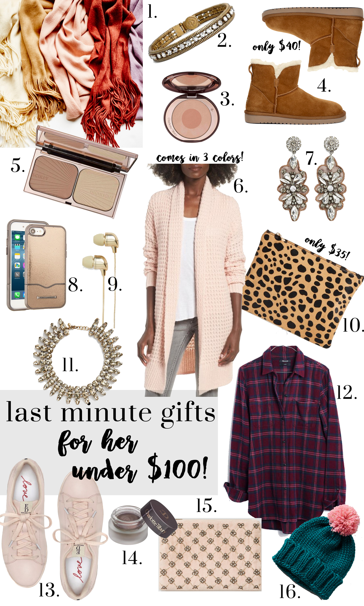 Last Minute Christmas Gifts Glitter Gingham